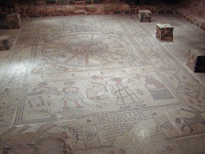 Photo: Beautifully preserved mosaic at Beth Alpha synagogue site