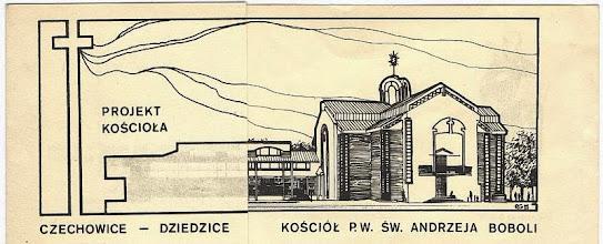 Photo: Rozkładana cegiełka wyd. przez księży jezuitów na okoliczność zbierania funduszy na budowę kościoła. 1988 r.