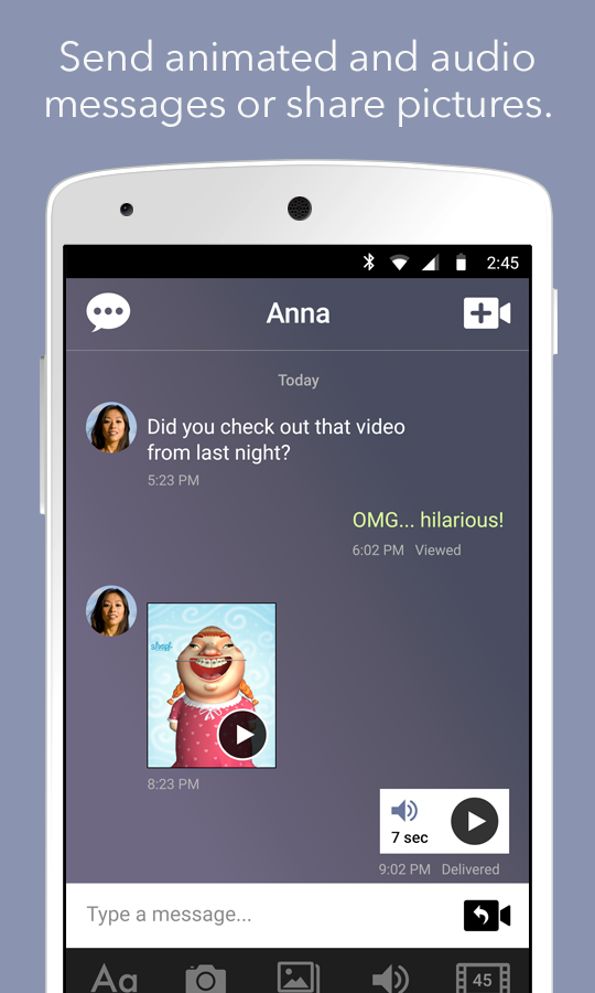 YAP Messaging- screenshot