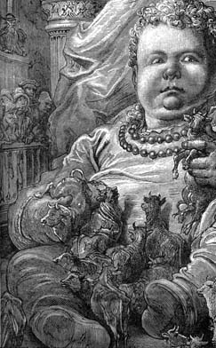 Dore's illustration of baby Gargantua