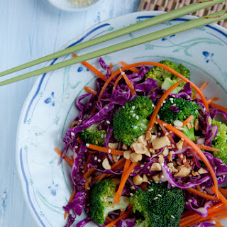 Asian Broccoli Salad with Sesame Ginger Dressing.