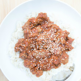 Korean Beef with Rice.