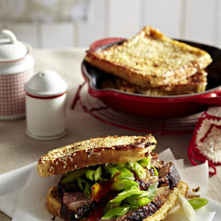 Roast Duck Sandwiches on Sesame Toast