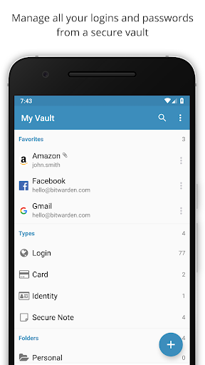 Bitwarden Password Manager 2.0.6 screenshots 1