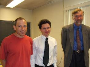Photo: Oded Schramm, Wendelin Werner and David Aldous