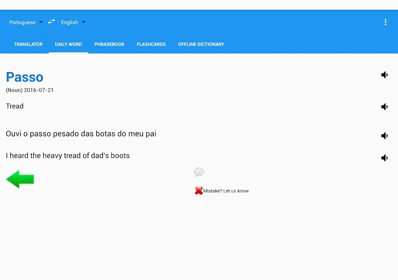 Portuguese English Translator- screenshot