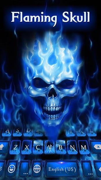 Flaming Skull Keyboard Theme Android App Screenshot