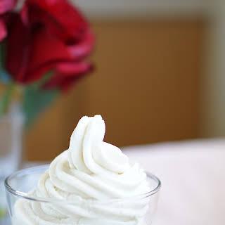 Healthy, Non-Fat, Low-Calorie Vanilla Mousse.