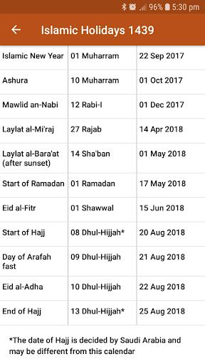 ICOUK Hijri Calendar Widgets 1.1.1 screenshots 5