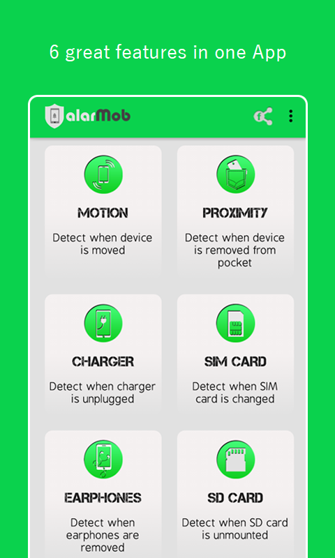 alarMob - Anti-theft alarm- screenshot