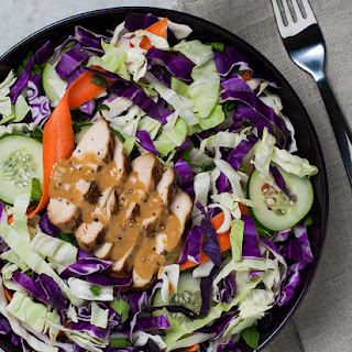 Thai Grilled Chicken Salad with Almond Butter Dressing
