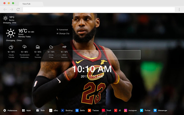 Lebron James Popular HD New Tab Theme