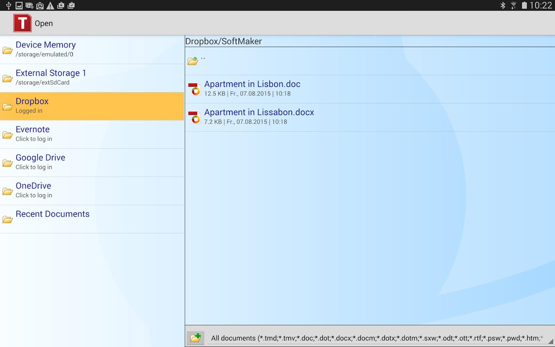 Office: TextMaker Mobile- screenshot