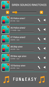 Siren Sounds Ringtones screenshot 2