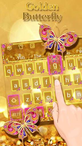 Golden Butterfly Keyboard Theme 10001001 screenshots 4