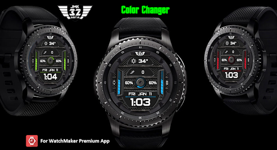 Z SHOCK 12 color changer watchface for WatchMaker Screenshot