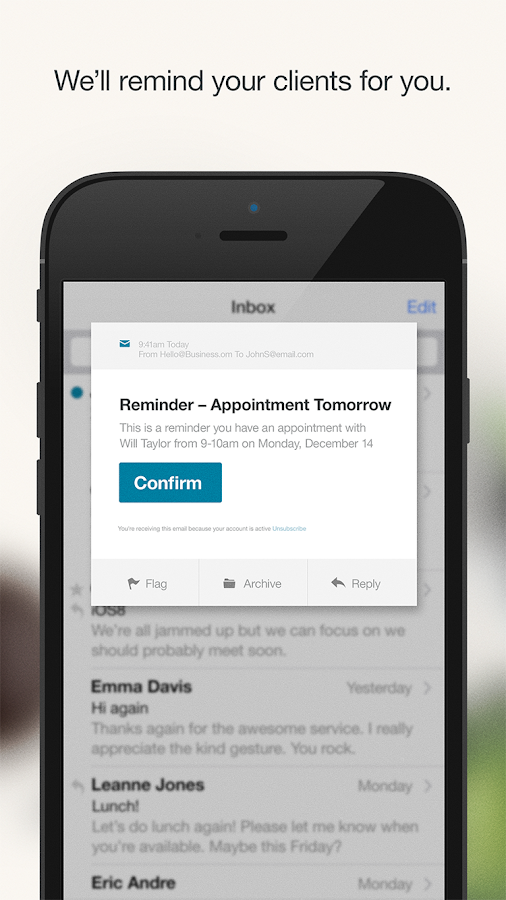 BookedIN Appointment Scheduler- screenshot