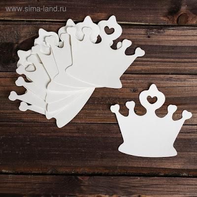 Основа для творчества и декора «Корона», набор 10 шт., размер 1 шт: 15,5×14 см