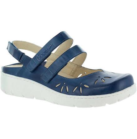 Klara blå sandalballerina