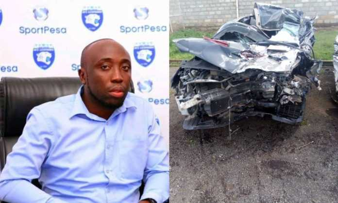 Felix Shitsama, Right: car wreckage