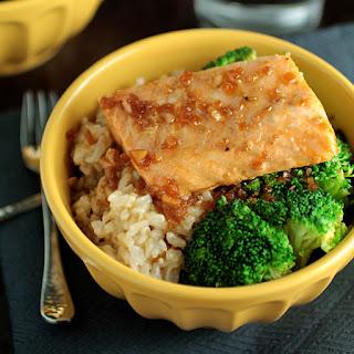 Orange Teriyaki Salmon Rice Bowls