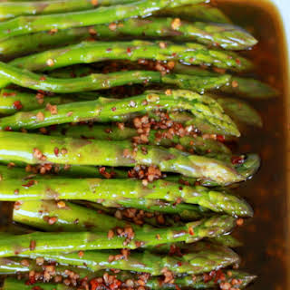 Balsamic Marinated Asparagus.