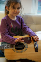 Photo: Avni went to India and left Greta her guitar