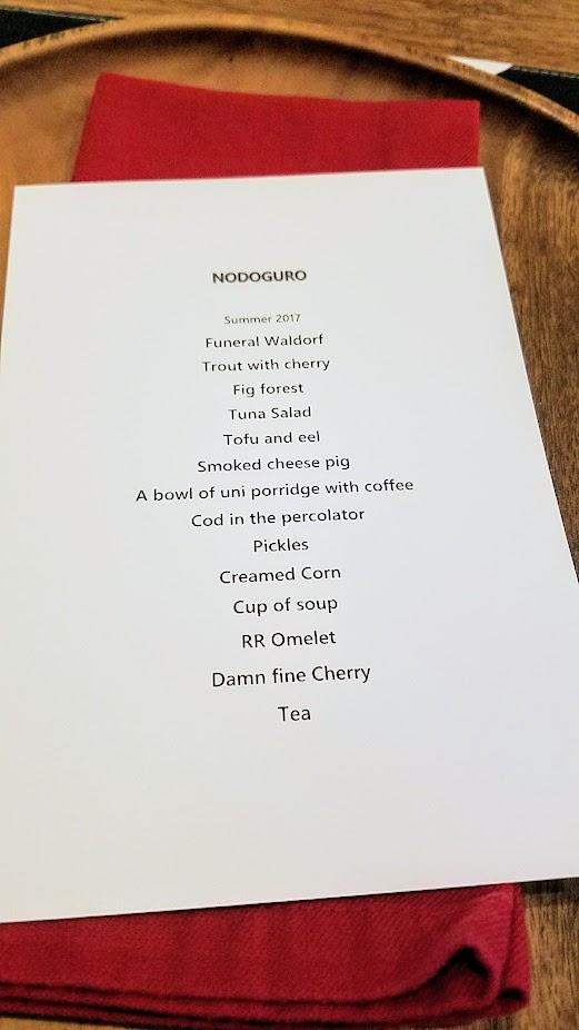Nodoguro Twin Peaks Dinner 2