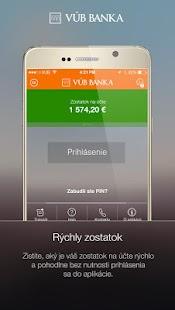 VÚB Mobil Banking - náhled