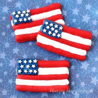American Flag Pretzels - Festive 4th of July Treats