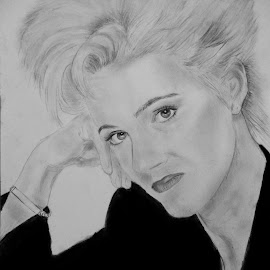 Marie Fredriksson by Carmina Shan - Drawing All Drawing ( marie fredriksson, swedish pop singer, '80s, singer, roxette )