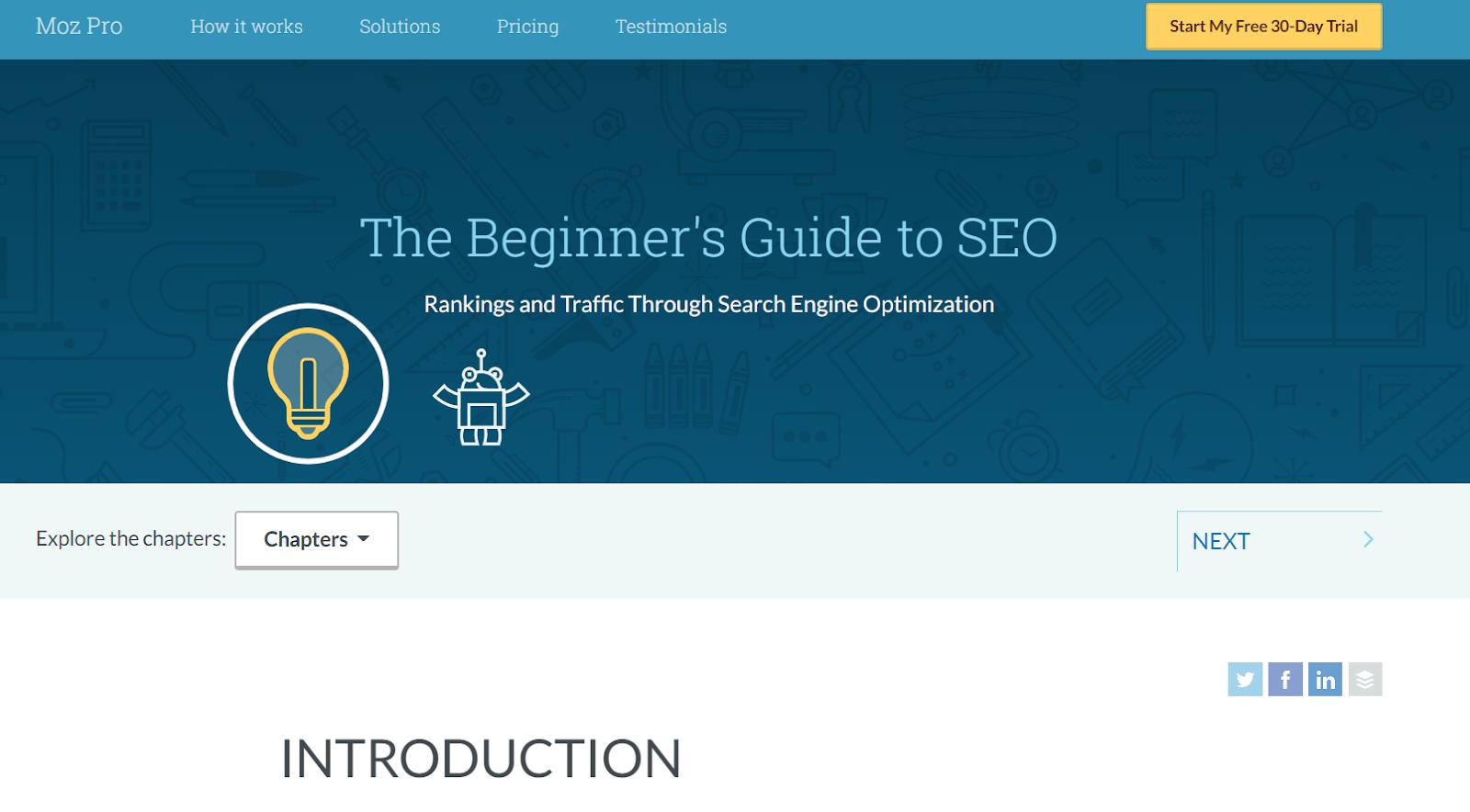 Moz beginner's guide to SEO