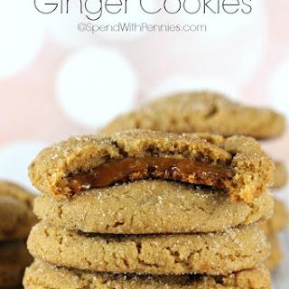 Caramel Filled Ginger Cookies
