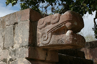 Photo: Serpent carving at Chichen Itza