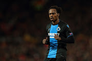 Percy Tau of Club Brugge during the Uefa Europa League last-32 second leg match against Manchester United at Old Trafford on February 27.