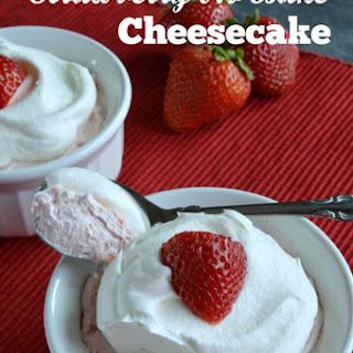 Low Carb Strawberry No Bake Cheesecake