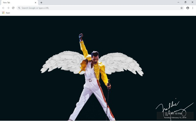 Freddie Mercury New Tab