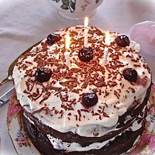 Delicious Black Forest Cherry Cake.