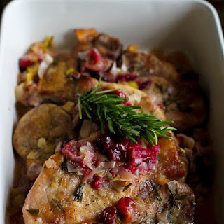 Slow Cooker Pork Chops with Cranberries & Leeks