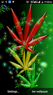 Falling Weed Live Wallpaper Weed Rasta Live Wallpaper Android Apps On Google Play