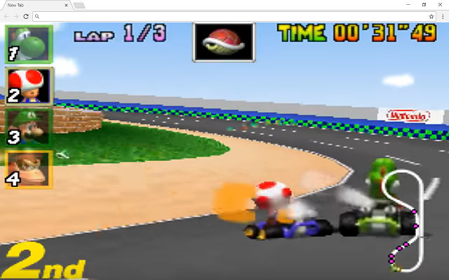 Mario Racing Drive New Tab