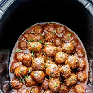 Honey Buffalo Meatballs (Slow cooker).