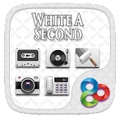 WhiteASecond Go Launcher Theme