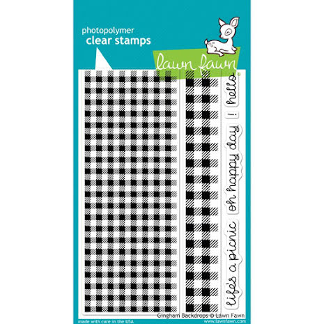 Lawn Fawn Clear Stamps 4X6 - Gingham Backdrops