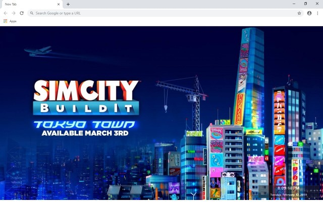 SimCity Buildlt New Tab Theme