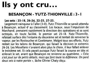 Photo: 01-04-2012 Besançon prend sa revanche face à l'ASVB 3-1