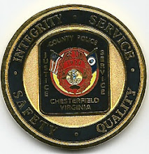 Photo: Chesterfield County Police, Challenge Coin (Reverse)