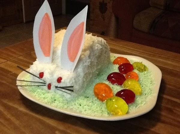 Mom's Easter Bunny Cake W/jello Eggs Recipe