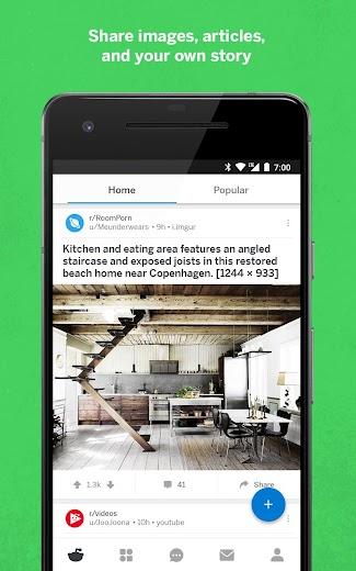 Screenshot 1 for Reddit's Android app'