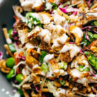 Cashew Crunch Salad with Sesame Dressing.